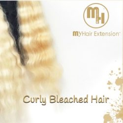 My Hair Extensions™ מציג Bleached CURLY BLONDE שיער תלתלים 100% HUMAN HAIR