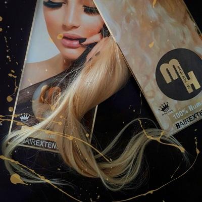מותג השיער MY HAIR EXTENSION ™ 100% מציג קולקציית קיץ בלונד עשירה ומיוחדת HUMAN HAIR