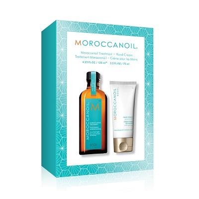 Moroccanoil משיקה ערכה המכילה שמן טיפולי וקרם ידיים מחיר 189שח צילום יחצ...