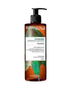 שמפו מסדרת בוטניקלס לוריאל פריז - סדרה המבוססת על צמח התבלין גד השדה (זרעי כוסברה) מחיר 36.90 שח צילום יחצ חול