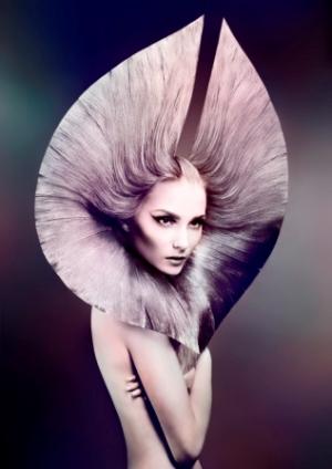 הפקת שיער אוונגרד פיסול אומנותי בשיער