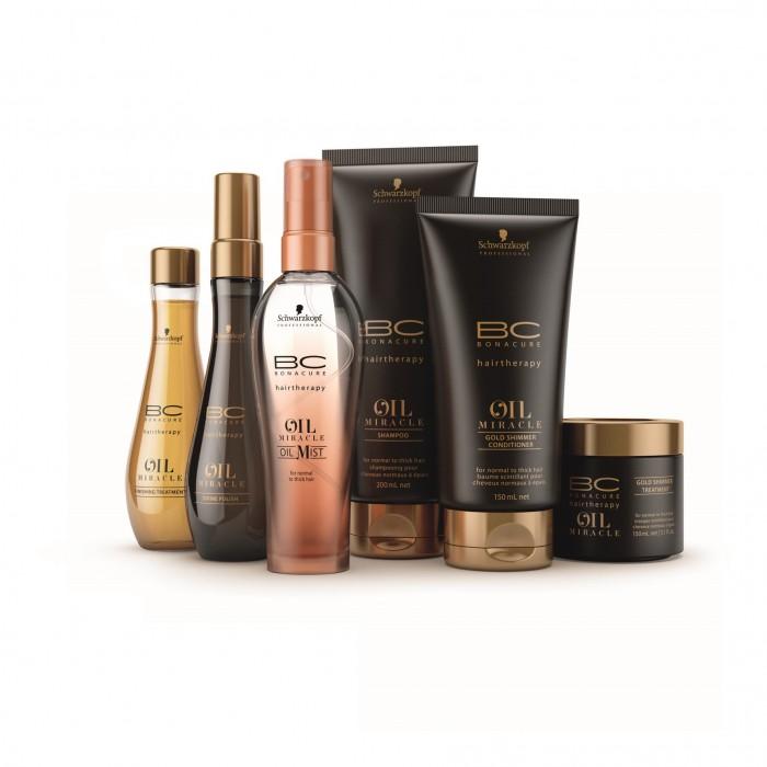 שוורצקופף פרופשיונל- מגוון מוצרי BC OIL MIRACLE לשיער רגיל עד עבה