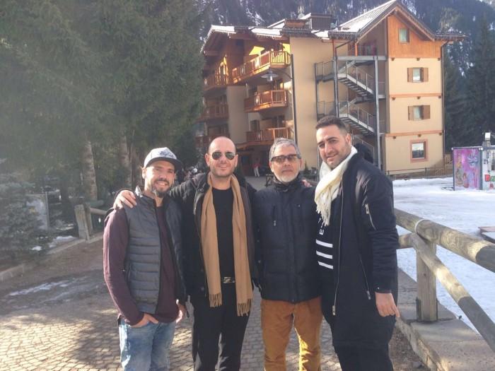 מימין לשמאל- עופר טורג'מן, קולי, איתי דומב ואמיר לגזיאל, צילום- באדיבות סטודיו וולה פרופשיונלס