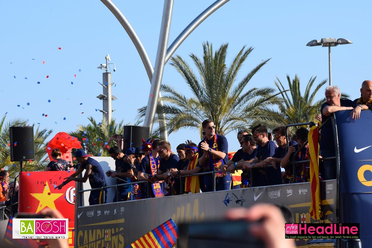 מעצב השיער יגאל מושייב חוגג אליפות בברצלונה צילום:הדליין