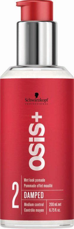 "OSiS+ , Damped, מראה מלוטש, רמת שליטה 2, משחת שיער עם משאבה צילום- שוורצקופף פרופשיונל חו""ל"