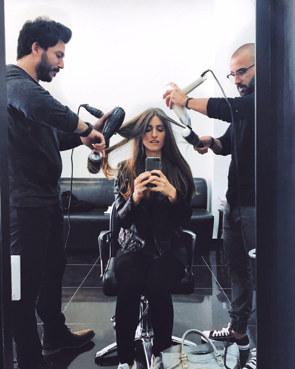 דנה זרמון כוכבת ה It Girls התפנקה במספרת AY Hair design
