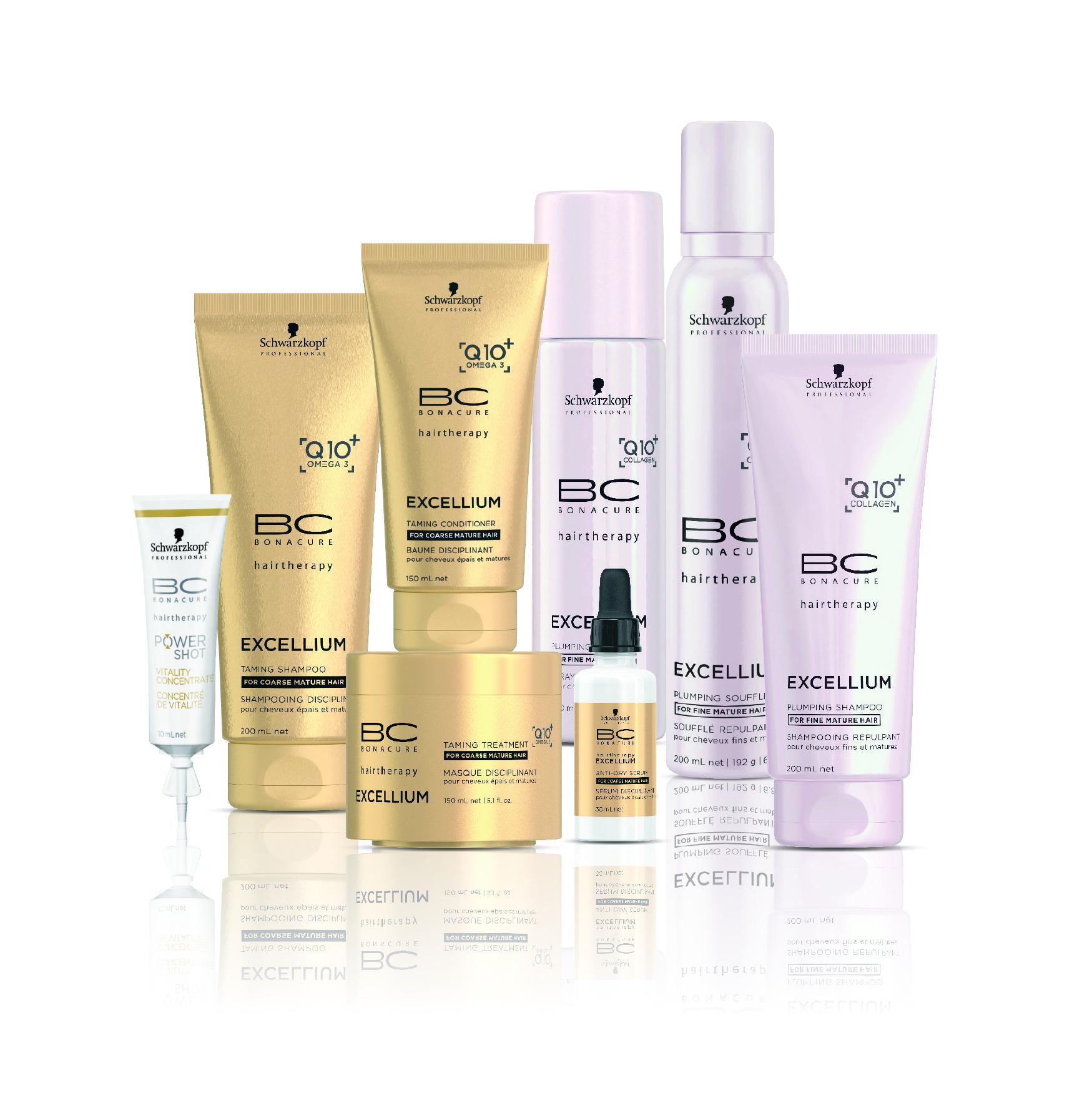 שוורצקופף פרופשיונל- סדרת- BC EXCELLIUM Q10 - קו המוצרים המומחה לכל סוגי השיער הבוגר.