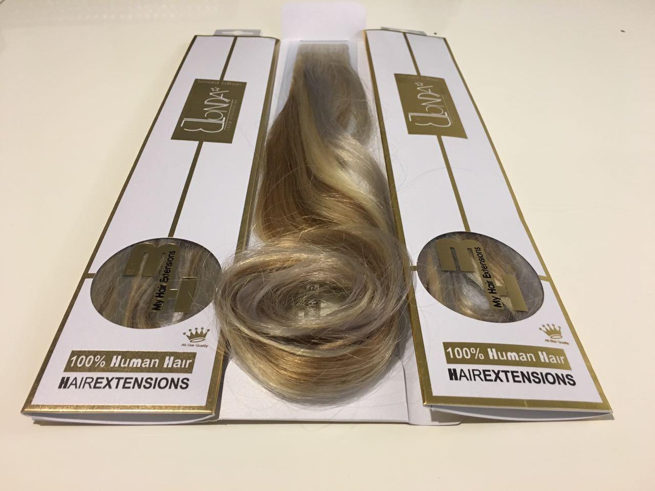 בלעדי וייחודי למותג השיער My Hair Extensions™ Bleached Hair בחיבורי Tapex