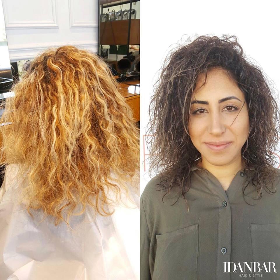 עיצוב שיער מתולתל במודיעין עידן בר
