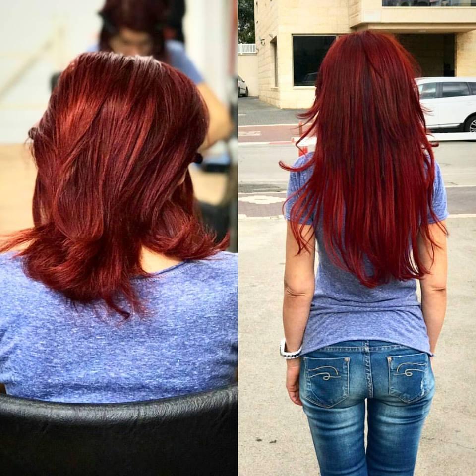 תוספות שיער לשיער צבוע רפאל אוסמו