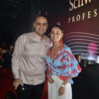 גיורא יצחקוב, מאסטר תסרוקות הכלה והערב ואנה אהרונוב באירוע הגדול של חברת שוורצקופף