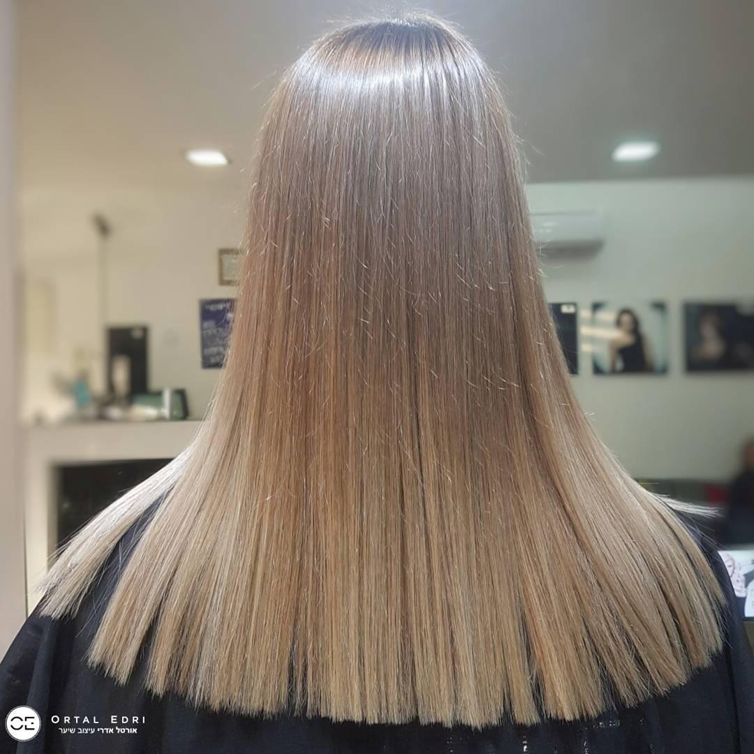 אורטל אדרי שיער גוון אפור