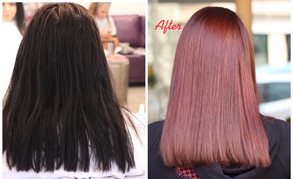 צבע שיער טבעי בבת ים