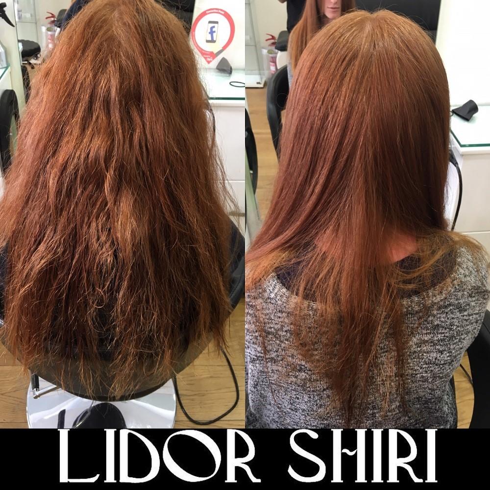 החלקת שיער לשיער צבוע ברמת השרון