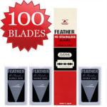 100 להבי גילוח של FEATHER