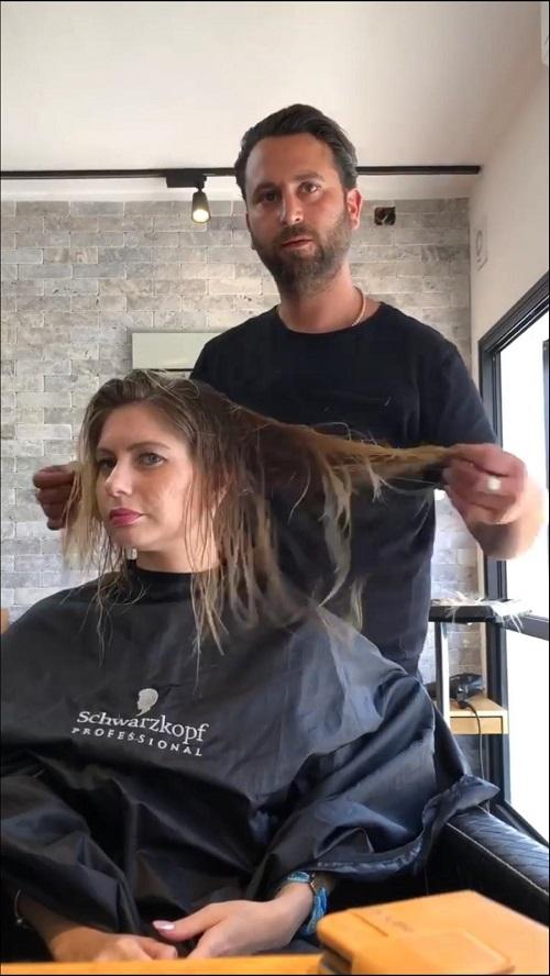מראה שיער חדש לשנה החדשה - תוספות שיער לפני - מספרת רפאל אוסמו בנהריה
