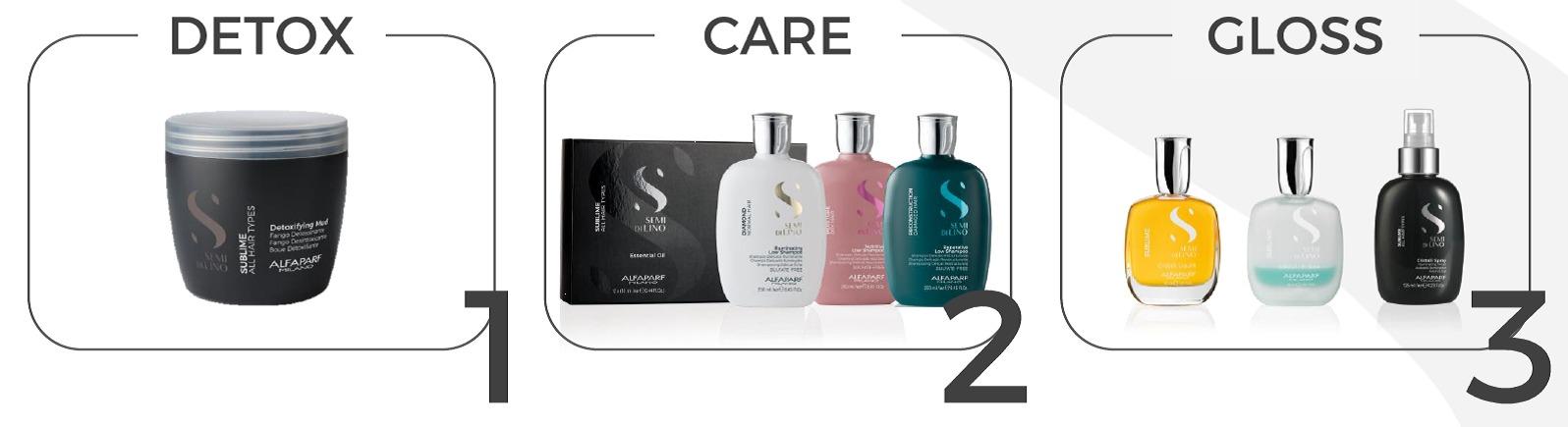 סדרת מוצרי טיפוח חדשה SEMI DILINO - שיטת טיפול לכל סוגי השיער ב3 שלבים- ניקוי עמוק, טיפוח וברק