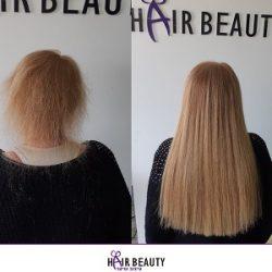 תמונות של תוספות שיער – לפני ואחרי – הייר ביוטי בעכו לשיער מושלם