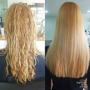 החלקה לשיער צבוע לבלונד – החלקה לשיער מובהר – המרכז להחלקות שיער בעפולה