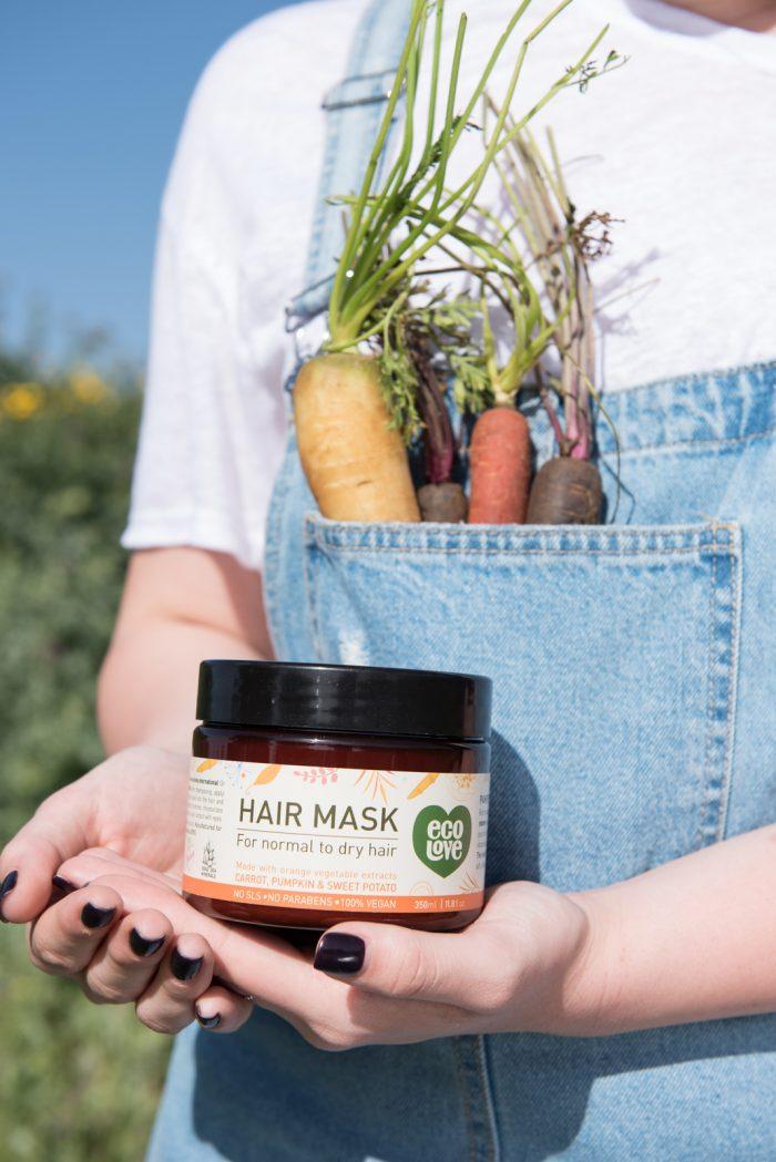 מסכה לשיער ירקות כתומים ecoLove  צילום עדי גלעד